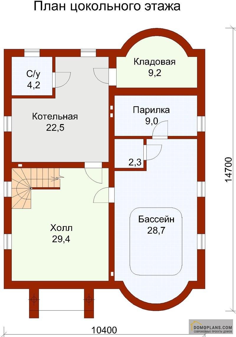 план дома с цокольным этажом фото счёт