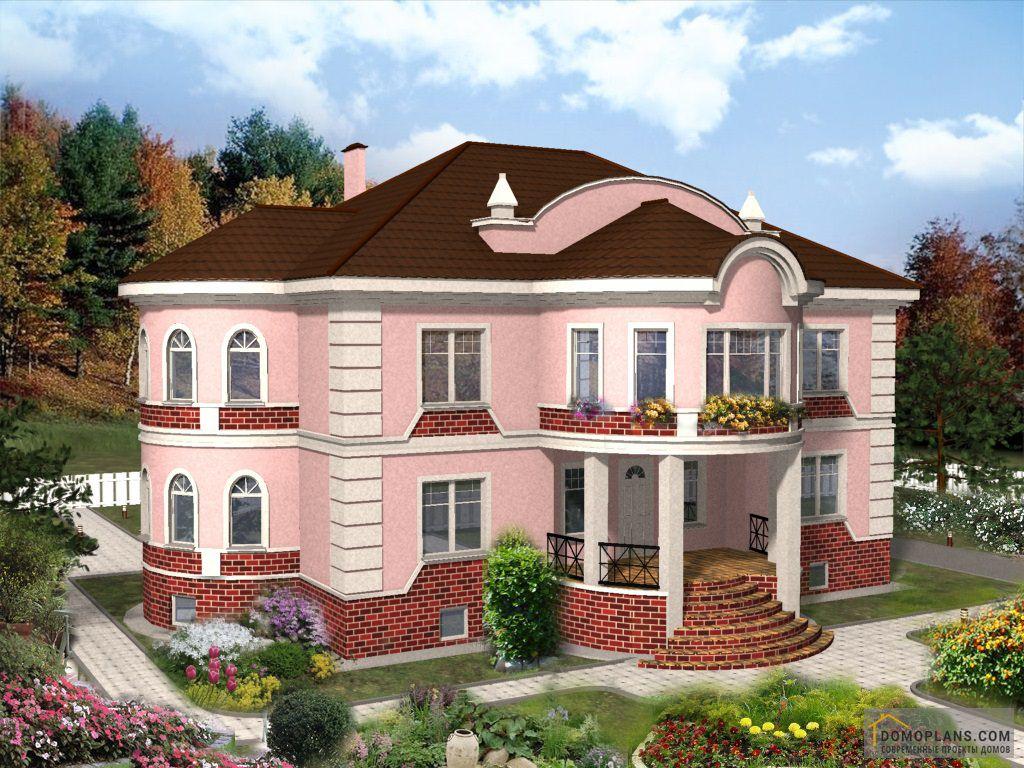 фасады домов фото с балконом и эркером взглянуть мир