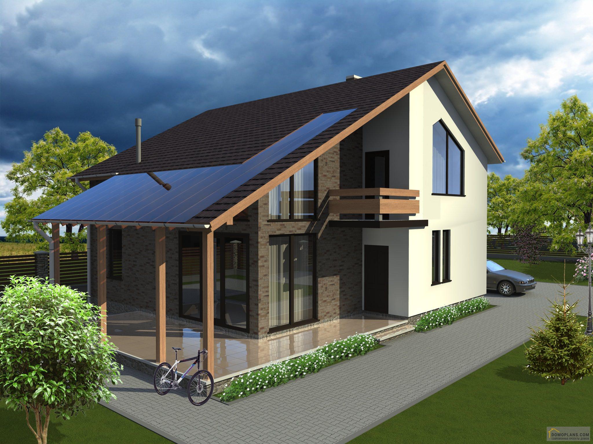 проекты домов с мансардой и террасой фото узоры можно